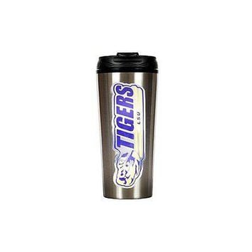 NCAA LSU Tigers Stainless Steel Travel Tumbler, 16 oz, Silver