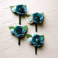 Paper Rose Boutonniere, Grooms Bout.. on Luulla