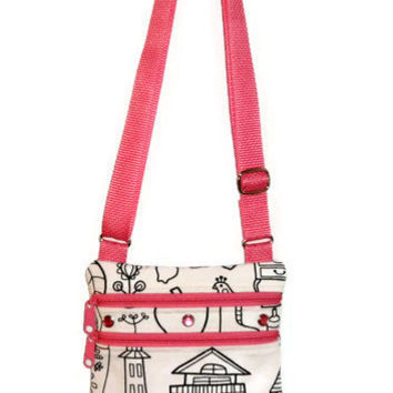 Color Me Bag, Personalized Bag, Little Girls Bag, Sling Bag, Girls Purse, Kids Bag, Small Messenger Bag, Small Girls Bag, Satchel, Knapsack
