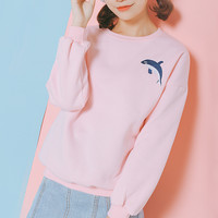 Dolphin Embroidered Sweatshirts from MILK CLUB