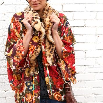Special Date Kimono - Red Floral by Aratta