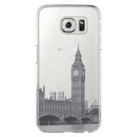London Big Ben Westminster Bridge Samsung Galaxy S6 Edge Clear Case S6 Case S5 Transparent Cover iPhone 6s plus Case