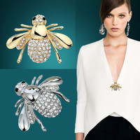 Bee Brooch Accessory Pin for Lapel or Shawl