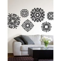 WallPops® Wall Art Kit with Mirror Baroque Medallions