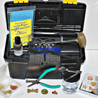 Metal Stamping Kit- Everything To Get Started Stamping- Stamps- Blanks- Tools- Storage- Metal Work and Jewelry Design- SG-K2