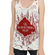 Harry Potter Marauder's Map Girls Tank Top