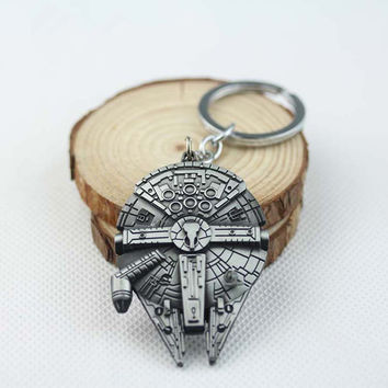 Star Wars Millennium Falcon Alloy Key Chain Fashion Movie Jewelry