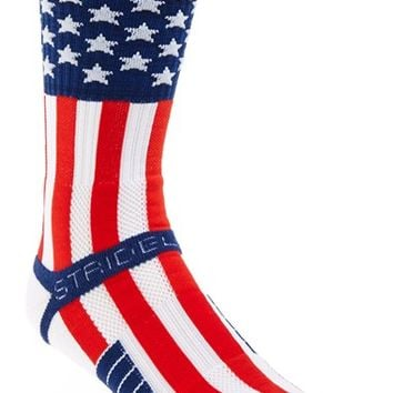 Men's STRIDELINE 'Uncle Sam' Socks - Red