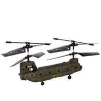 Syma S026G 3CH Cargo Transport Mini R/C Helicopter Aircraft (With Gyroscope) Army Green