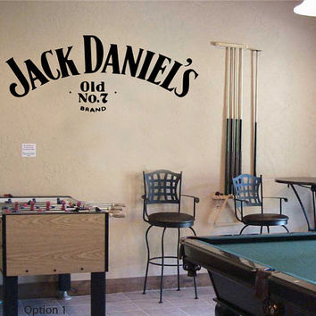 Jack Daniels Wall Sticker Bedroom Decal Vinyl Art by GDirect