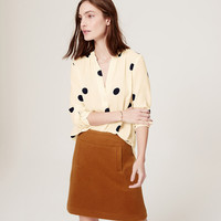 Polka Dot Split Neck Tunic