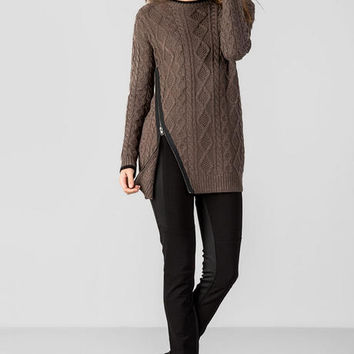 Quinn Asymmetrical Zipper Sweater