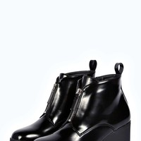 Alisha Zip Front Cleated Ankle Boot