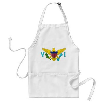 Apron with Flag of Virgin Islands, U.S.A.