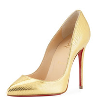 Christian Louboutin Pigalle Follies Embossed Red Sole Pump