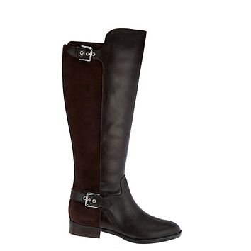 """As is"" Marc Fisher Damsel Dark Brown Women's Wide Calf Over The Knee Boots"