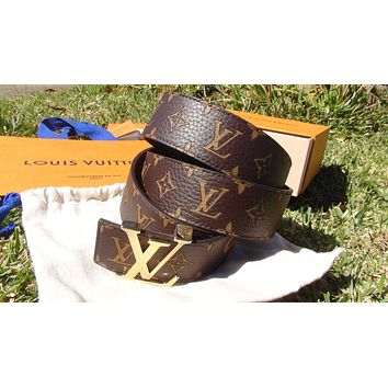 Authentic LV Louis Vuitton X Supreme Belt
