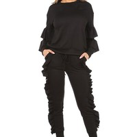 Hollywood Ruffle Jogger Set