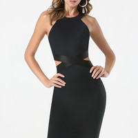 bebe Womens Cutout Waist Dress Black