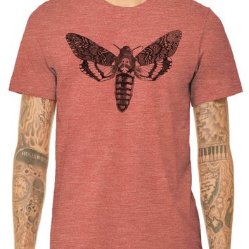 Austin Ink Apparel Death's Head Moth Quality Triblend Short Sleeve Mens T-Shirt