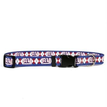DCCKOP9 New York Giants Argyle Nylon Collar