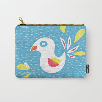 Abstract Bird In Spring Carry-All Pouch by borianagiormova