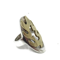 Gothic Ring Sterling Silver Flame Size 6