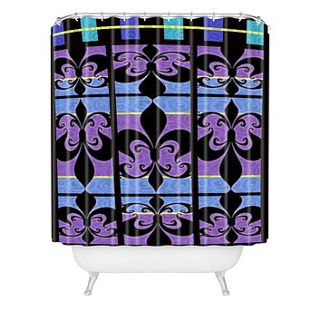 Gina Rivas Design Peacock Patch 1 Shower Curtain
