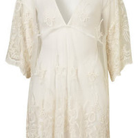 Off White Lace Cover Up