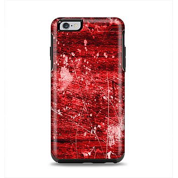 The Red Grunge Paint Splatter Apple iPhone 6 Plus Otterbox Symmetry Case Skin Set