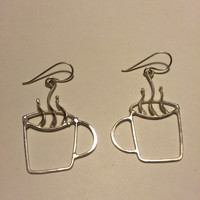 Coffee cup or tea earrings