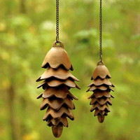 32730 Large Pinecone Wind Chime By SPI Home
