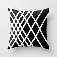 JUST LOVELY- Black Throw Pillow by Rebecca Allen