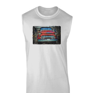 Vintage Truck Watercolor Muscle Shirt