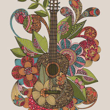 Ever Guitar Art Print by Valentina Harper