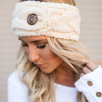 Buttoned Up Knitted Headband
