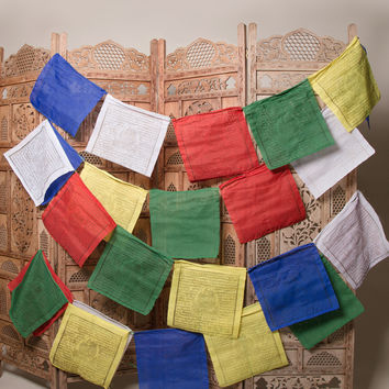 White Tara Prayer Flags - Protection and Long Life