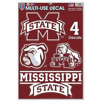 MISSISSIPPI STATE BULLDOG MACBOOK LAPTOP MULTI USE REMOVABLE REUSABLE DECALS NEW