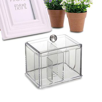 New Transparent Crystal Makeup Cotton Storage Box Cosmetic Sample Boxes