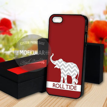 Roll Tide Chevron Elephant Alabama case for Samsung Galaxy S3,S4,S5/Note 2,3/iPod 4th 5th/iPhone 5,5s,5c,4,4s,6,6+[ M03 ] LG Nexus/HTC One