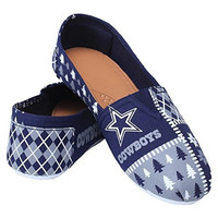 Dallas Cowboys Forever Collectibles Women's Ugly Canvas Slip On Shoes Sizes S-XL w/ Priority Shipping