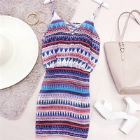 310590 Cute v-neck summer dresses sleeveless casual mini dress | Candy Blue Shop