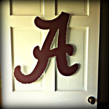 University of Alabama Crimson Tide Hand Painted Wooden Letter Door Hanger