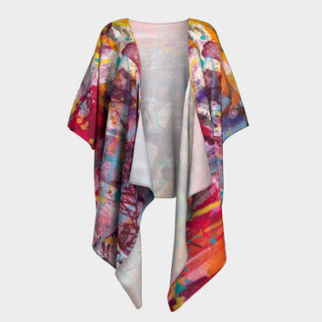 Draped kimono, robe, wrap, cover up,  Kimono Sleeve, Shrug, Jacket, Cardigan, Fashion Accessory, wearable art, artist designed, gift for her