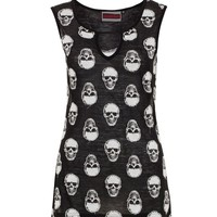 JAWBREAKER CLOTHING MONOTONE SKULL TOP