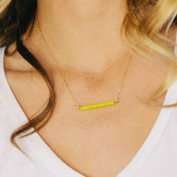 Pop of Neon Necklace
