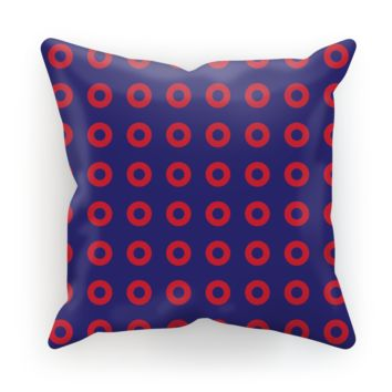 Red Circle Donut Sublimation Cushion Cover