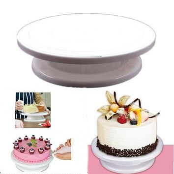 2016 hot sale revolving cake sugarcraft turntable,cake swivel plate decoration stand platform turntable baking tools free ship