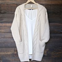 late at night cardigan - natural