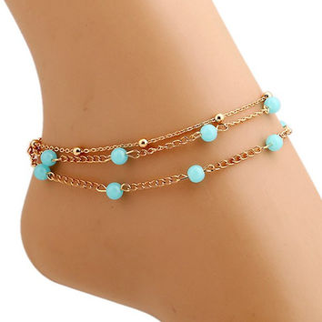 Bead Layered Anklet